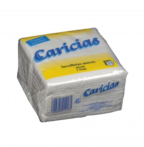 Servilletas Caricias 20x20 cm